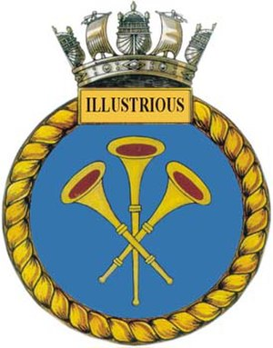 HMS Illustrious (R06) - Ship's badge