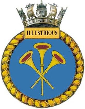 HMS Illustrious (R06) - Ship's badge