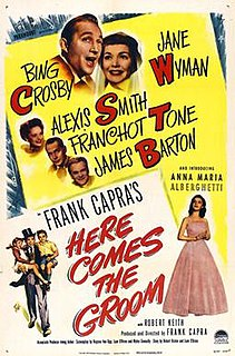 <i>Here Comes the Groom</i> 1951 film by Frank Capra