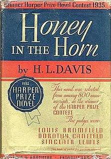 <i>Honey in the Horn</i> novel by Harold L. Davis