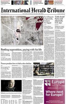 International-Herals-Tribune-26-August-2013