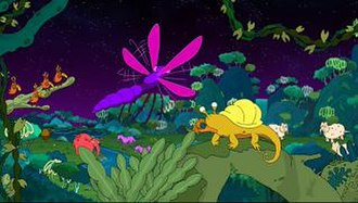 Futurama: Into the Wild Green Yonder - The asteroid in the violet dwarf system.