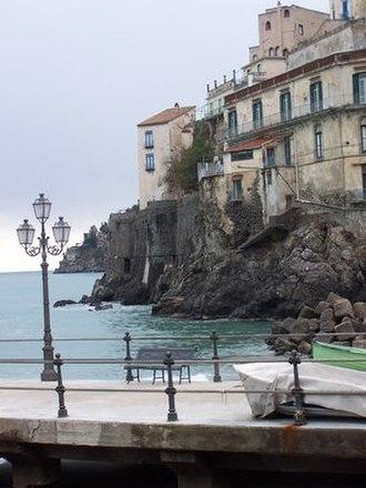 Minori, Campania - A view from the pier, January 2005