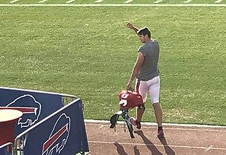 Josh Allen (quarterback) - Allen at Bills training camp in August 2018