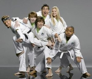 Kickin' It - Main characters of Kickin' It during the first two seasons: L to R, Rudy, Milton, Jack, Jerry, Kim and Eddie