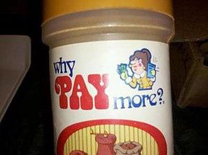 Laneco - Why Pay More? logo, generic brand of Laneco/Food Lane Supermarkets