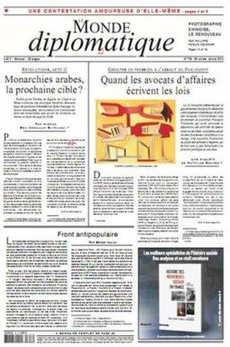 Le Monde diplomatique - Image: Le Monde diplomatique front page