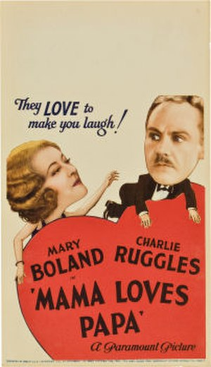 Mama Loves Papa (1933 film) - 1933 theatrical poster