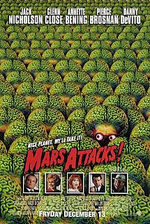 <i>Mars Attacks!</i> 1996 American science fiction-comedy film directed by Tim Burton