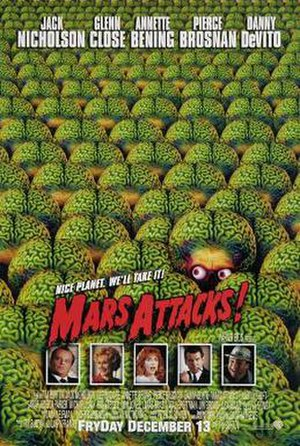 Mars Attacks! - Theatrical release poster