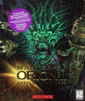 Master of Orion II: Battle at Antares - North American cover