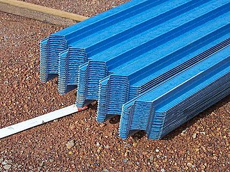 Purlin - Image: Metal purlins
