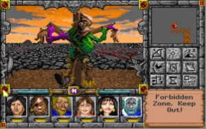 Might and Magic V: Darkside of Xeen - A typical screenshot