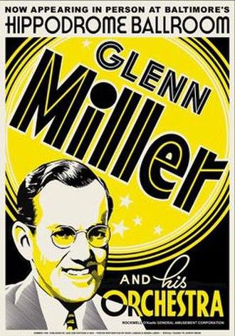 Glenn Miller - 1939 Baltimore Hippodrome Ballroom concert poster.