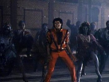 Michael Jackson dancing with the living dead.