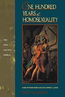 1990 book about homosexuality in ancient Greece by David M. Halperin