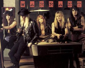 Warrant (American band) - From left to right: Steven Sweet, Jani Lane, Erik Turner, Joey Allen, Jerry Dixon.