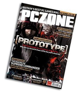 <i>PC Zone</i> video games magazine and review website