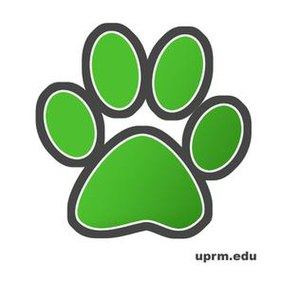 University of Puerto Rico at Mayagüez - UPRM's Tarzán paw logo