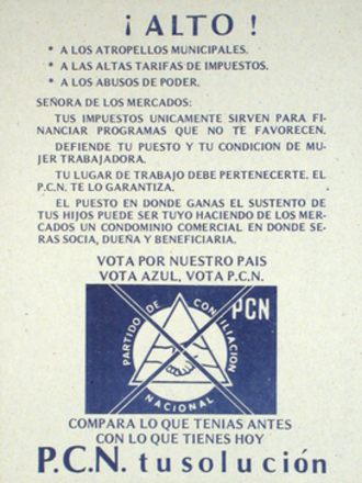 National Coalition Party (El Salvador) - 1982 election poster