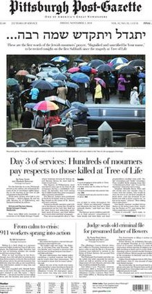 Pittsburgh Post-Gazette front page -- Nov. 2, 2018.jpg
