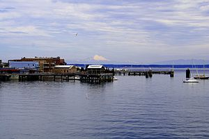 Jefferson County, Washington - Port Townsend Bay as seen from a ferry