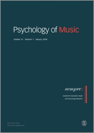 Psychology of Music (journal) - Image: Psychology of Music