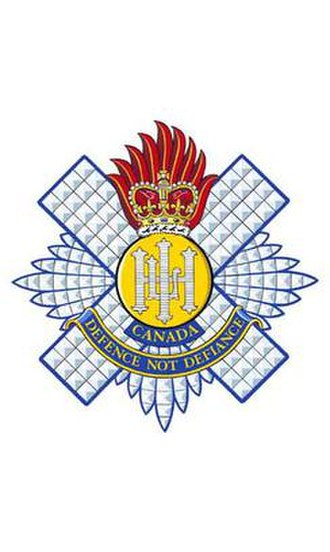 The Royal Highland Fusiliers of Canada - Image: RHFC cap badge