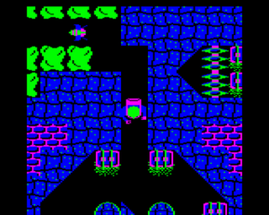 Ravenskull (video game) - The adventurer collects a treasure piece (BBC Micro)