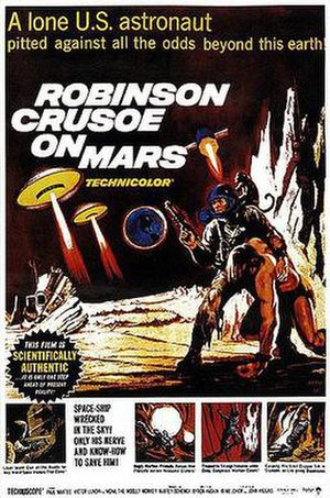 Robinson Crusoe on Mars - Theatrical release poster