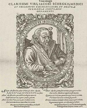 Jakob Schegk - Engraving of Jakob Schegk by Jost Amman