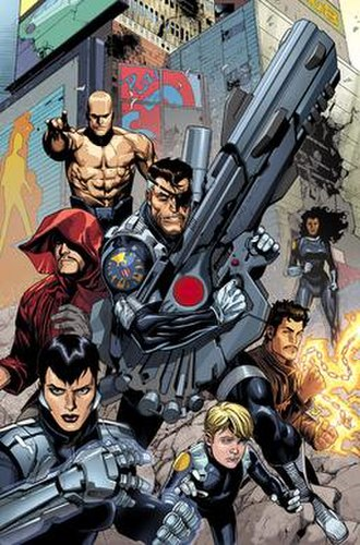 Secret Warriors (Team White) - Nick Fury and Team White. Art by Leinil Francis Yu