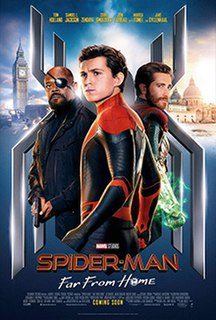 <i>Spider-Man: Far From Home</i> 2019 superhero film produced by Columbia Pictures and Marvel Studios