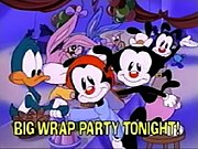 Yakko, Wakko and Dot shake hands with their Tiny Toon Adventures predecessors: Buster and Babs Bunny and Plucky Duck, who make a cameo appearance in an episode of Animaniacs