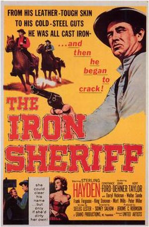 The Iron Sheriff - Image: The iron sheriff movie poster 1957