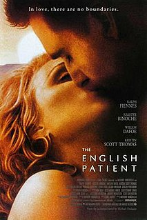 <i>The English Patient</i> (film) 1996 romantic drama film directed by Anthony Minghella
