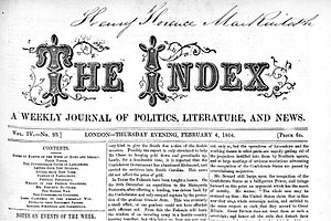 Henry Hotze - The Index Newspaper
