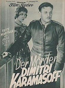Image result for Der Mörder Dimitri Karamasoff 1931 aka The Murderer Dimitri Karamazov