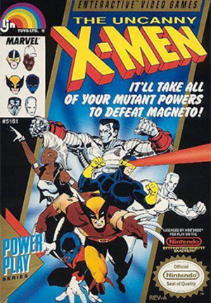 The Uncanny X-Men (video game) - North American cover art