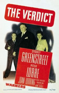 <i>The Verdict</i> (1946 film) 1946 film by Don Siegel