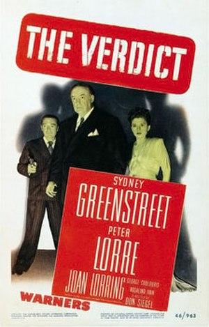 The Verdict (1946 film) - theatrical release poster