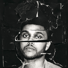 The cover features face of The Weeknd in his iconic dredlocks hairstyle. It appars like the cover has been torn and those torn pieces are placed again.