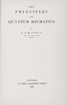 The principles of quantum mechanics - title page.jpg