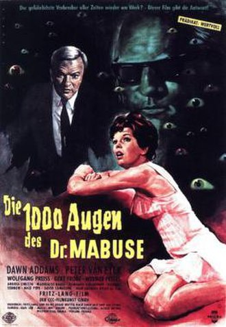 The Thousand Eyes of Dr. Mabuse - German theatrical release poster