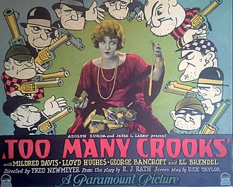 Too Many Crooks (1927 film) - Lobby card
