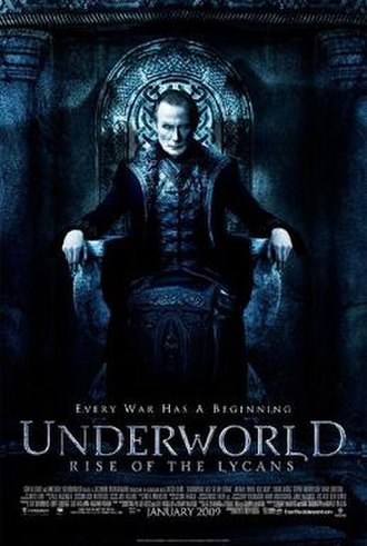 Underworld: Rise of the Lycans - Theatrical release poster