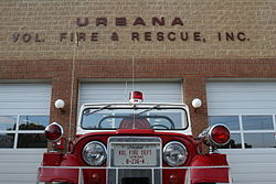 A truck of the Urbana Fire Department.