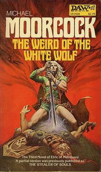 Elric of Melniboné - Elric as depicted by Michael Whelan on the 1977 cover of The Weird of the White Wolf.