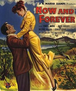 <i>Now and Forever</i> (1956 film) 1956 film by Mario Zampi