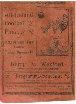 1913 All-Ireland Senior Football Championship Final programme.jpg